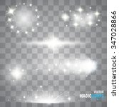 magic lights effects. set.... | Shutterstock .eps vector #347028866