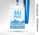 ski pass vector illustration.... | Shutterstock .eps vector #347029352