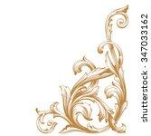 premium gold vintage baroque... | Shutterstock .eps vector #347033162