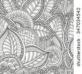 seamless pattern for coloring... | Shutterstock .eps vector #347034542