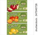 farm fresh organic fruits... | Shutterstock .eps vector #347040728