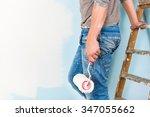Painter In Paint Splattered...