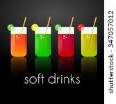vector set of tasty fresh... | Shutterstock .eps vector #347057012