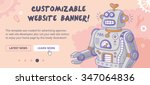 customizable website banner... | Shutterstock .eps vector #347064836
