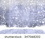 empty concrete when snowing and ... | Shutterstock . vector #347068202