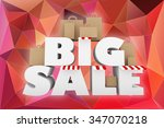 """big sale"" 3d font with red... 