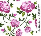 roses | Shutterstock .eps vector #34707907