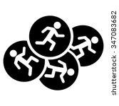 running men vector icon. style... | Shutterstock .eps vector #347083682