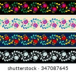 colorful and ornate ethnic... | Shutterstock .eps vector #347087645