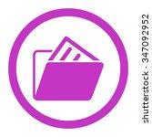 document folder vector icon.... | Shutterstock .eps vector #347092952