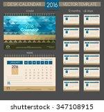 design desk calendar 2016.... | Shutterstock .eps vector #347108915