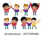 friends and friendly relation... | Shutterstock .eps vector #347109686
