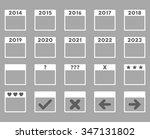 calendar years vector icon.... | Shutterstock .eps vector #347131802