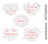 happy valentines day set.... | Shutterstock .eps vector #347136032