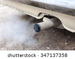 combustion fumes coming out of... | Shutterstock . vector #347137358