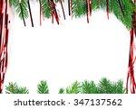 green spruce  christmas frame | Shutterstock . vector #347137562