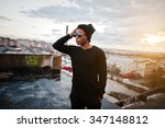 portrait of  style black man on ... | Shutterstock . vector #347148812