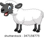 Cartoon Happy Sheep Posing...