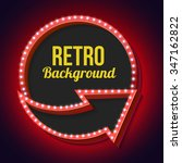 retro sign with lights. volume... | Shutterstock .eps vector #347162822