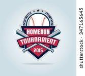 baseball badge sport logo team... | Shutterstock .eps vector #347165645
