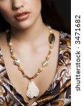 beautiful girl with handmade... | Shutterstock . vector #3471682