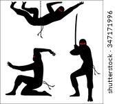ninja warriors vector image | Shutterstock .eps vector #347171996