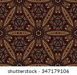 vector abstract ethnic vintage... | Shutterstock .eps vector #347179106
