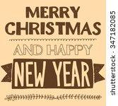 vector image of merry christmas ... | Shutterstock .eps vector #347182085