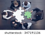 group of business people... | Shutterstock . vector #347191136