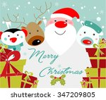 christmas background. santa ... | Shutterstock .eps vector #347209805