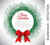 musical theme christmas wreath...   Shutterstock . vector #347217326