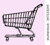 supermarket shopping cart ... | Shutterstock . vector #347223245