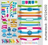 multicolor and diverse group of ... | Shutterstock .eps vector #347224232