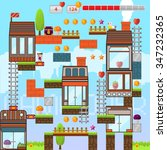 video game interface design... | Shutterstock .eps vector #347232365