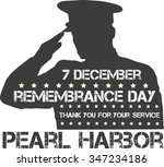 pearl harbor. remembrance day.... | Shutterstock .eps vector #347234186