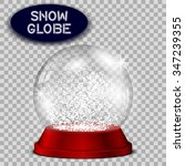 red snow globe transparent and...   Shutterstock .eps vector #347239355