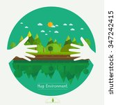 Eco Friendly Hands Hug Concept...