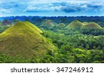 Chocolate Hills In Bohol Islan...
