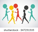 people walking design  vector... | Shutterstock .eps vector #347251535