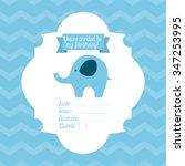 baby shower design  vector... | Shutterstock .eps vector #347253995