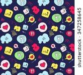 vector seamless doodle... | Shutterstock .eps vector #347258645