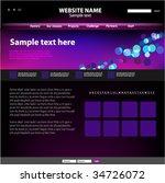 web site design template ...   Shutterstock .eps vector #34726072