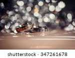 a pair of wedding rings | Shutterstock . vector #347261678