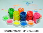color bottle is colorful.on... | Shutterstock . vector #347263838