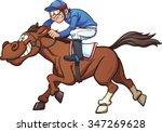 cartoon race horse. vector clip ...