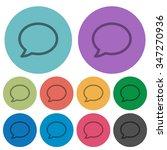 color chat bubble flat icon set ...