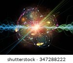 atomic wave  series. interplay... | Shutterstock . vector #347288222