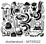 funny doodles collection....   Shutterstock .eps vector #34729222