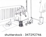 cats in the hall | Shutterstock . vector #347292746
