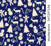 seamless pattern on vintage... | Shutterstock .eps vector #347297156